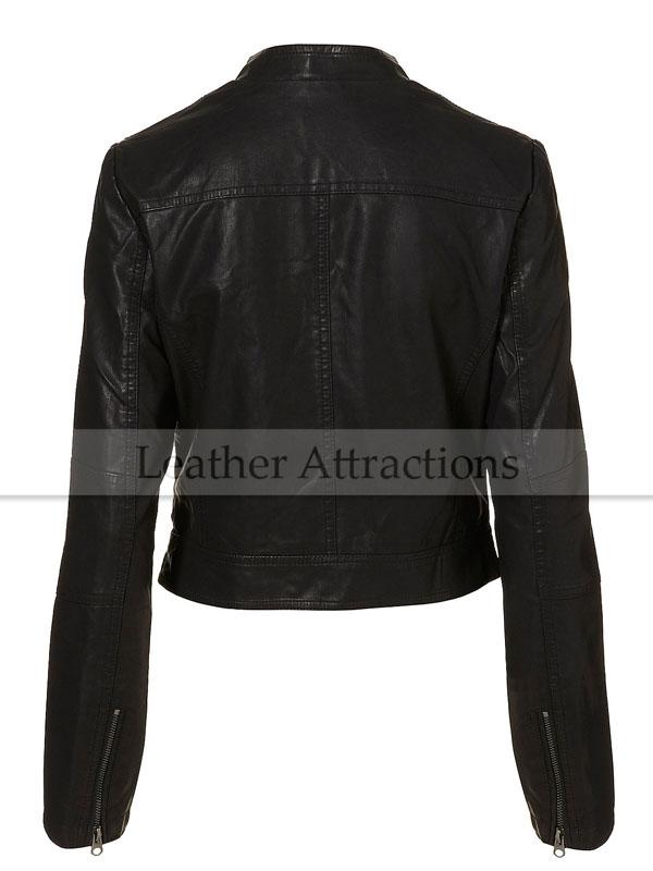 Biker Style Ladies Soft Leather Jacket