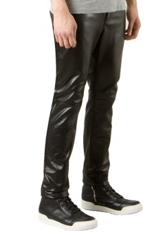 5 Pocket Straight Leather trousers