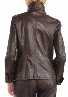 Avant Full Zipper Ladies Leather Jacket Back