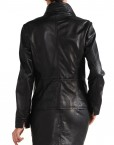 Avant Full Zipper Ladies Leather Jacket Black Back