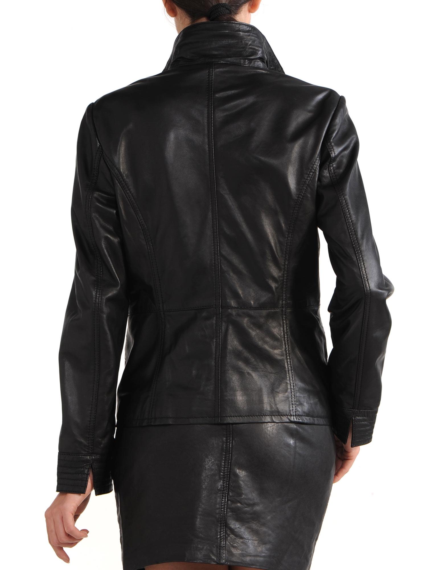 Avant Full Zipper Ladies Leather Jacket