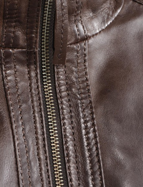 Avant Full Zipper Ladies Leather Jacket Zipper Looks