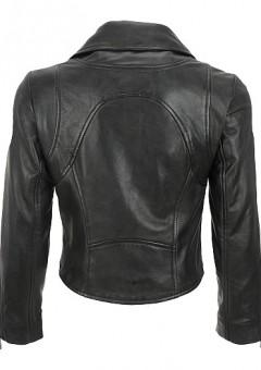 Black Corp Biker Jacket