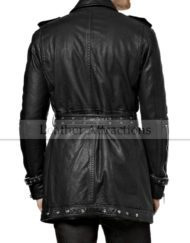 Biker-Leather-trench-Coat-Back