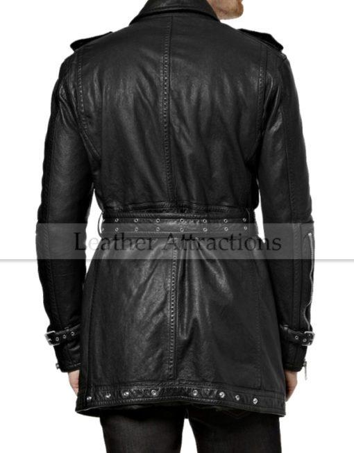 Biker-Leather-trench-Coat-Back