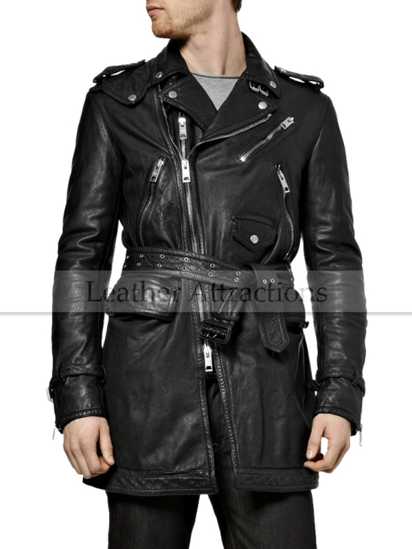 Men's Leather Coats | Men's most voguish leather trench coat