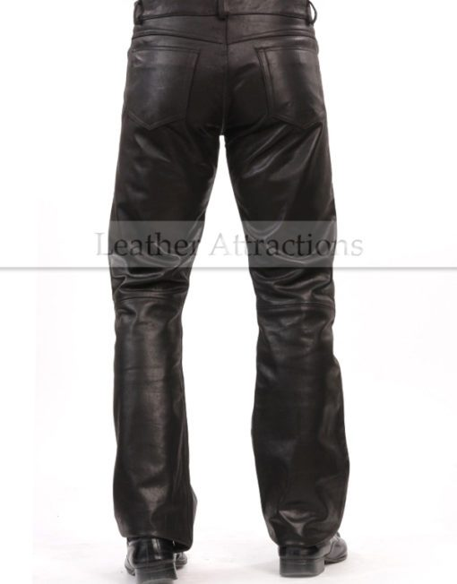 Boot-Cut-Style-Leather-Pants-back