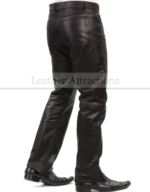 Boot-Cut-Style-Leather-Pants-back-side