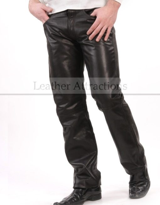 Boot-Cut-Style-Leather-Pants-front1
