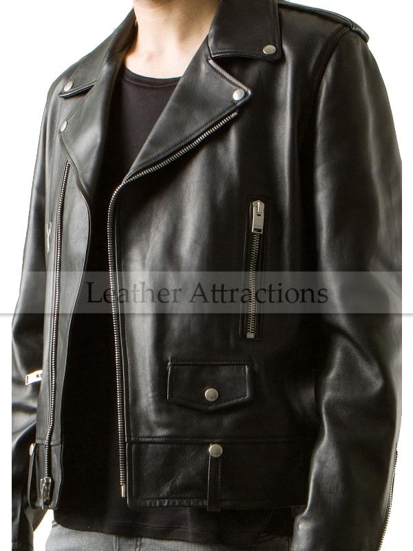 336788f34 Brando Style Motorcycle Leather Jacket