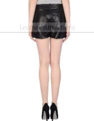 Casual-Extreme-leather-Shorts-Back