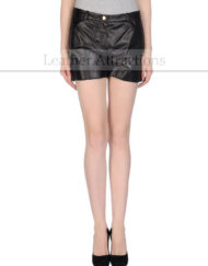 Casual-Extreme-leather-Shorts-Front