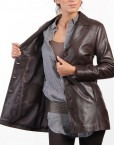 Chic Ladies Leather Jacket Inner