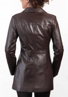 Chic Ladies Leather Jacket Main Back
