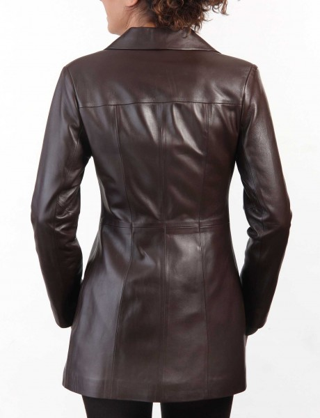 Chic Ladies Leather Jacket Main Back