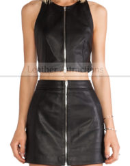 Chic Leather Vest Main Front
