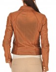 Collage Soft Leather Women Jacket Back