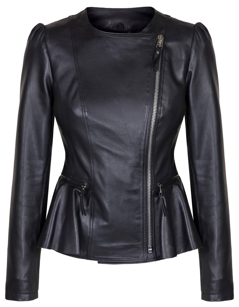 Duchess Black leather Ladies Jacket 4e46b672f8c4