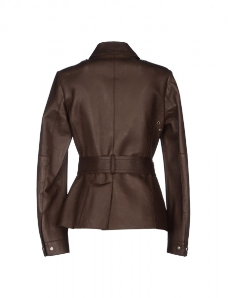 Elegant Ladies Brown Coat Back