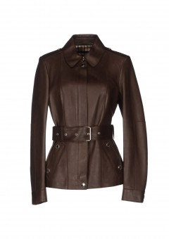 Elegant Ladies Brown Coat Front