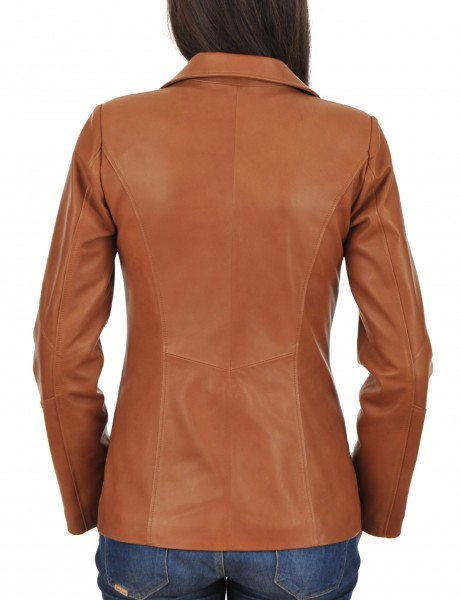 Euro Ladies Leather jacket Back