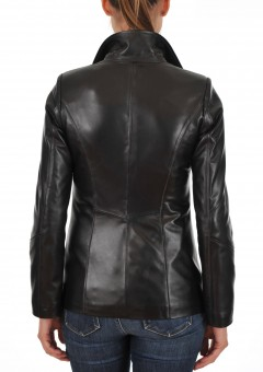 Euro Ladies Leather jacket Back Main