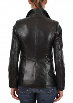 Euro Ladies Leather jacket Back Main