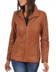 Euro Ladies Leather jacket Front