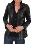 Euro Ladies Leather jacket OPen Front MAin