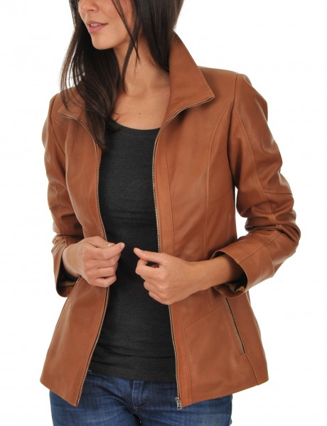 Euro Ladies Leather jacket open Front
