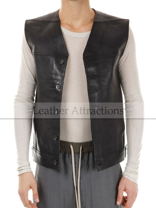 Attractive Euro Men's Leather vest VA65