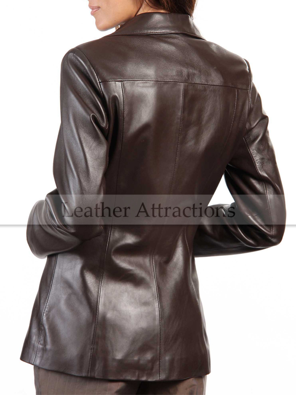 Excelsior Women Leather Blazer