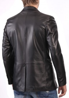 Exclusive Leather Blazer front