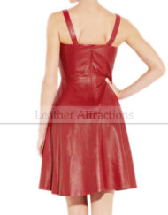 Flared-Hem-Red-Leather-Dress5
