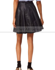 French-Flarred-Leather-Skirt-Black-Back