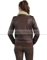 Fur-Collar-Women-Bomber-Leather-Jacket-Back