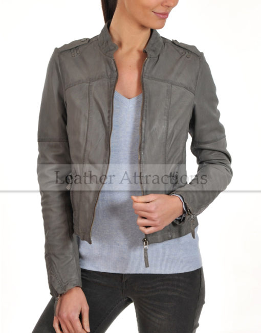 Grey-ladies-jacket-Open-Front
