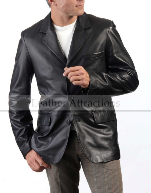 Italian-Leather-Blazer-front-bend