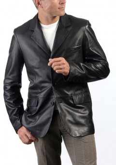 Italian Leather Blazer