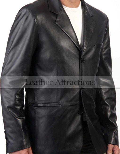 Italian-Leather-Blazer-front-close