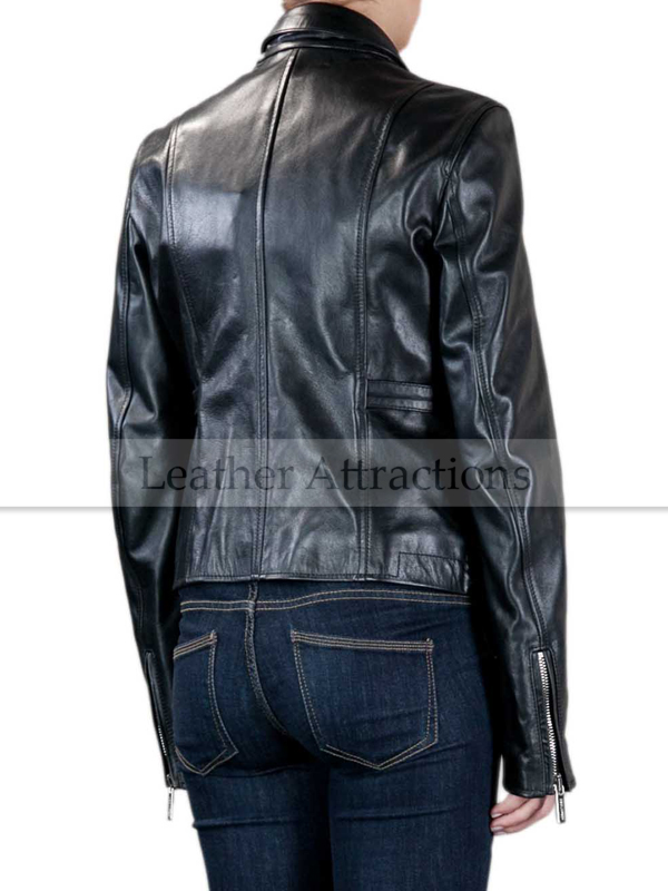 Italian women leather jacket