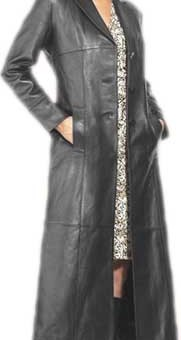 Ladies Matrix long Trench Coat
