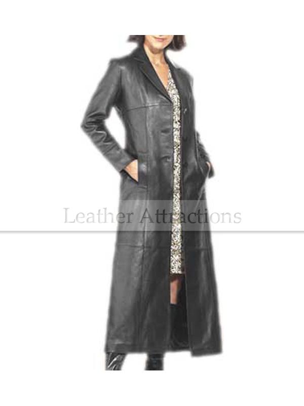 Long Brown Quilted Ladies Coat