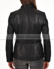 Ladies-Quilted-Motorbike-belted-jacket-Back