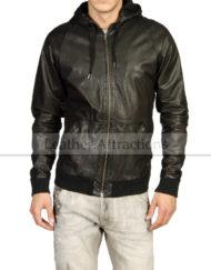 Men-Hooded-Bomber-Leather-Jacket-Front
