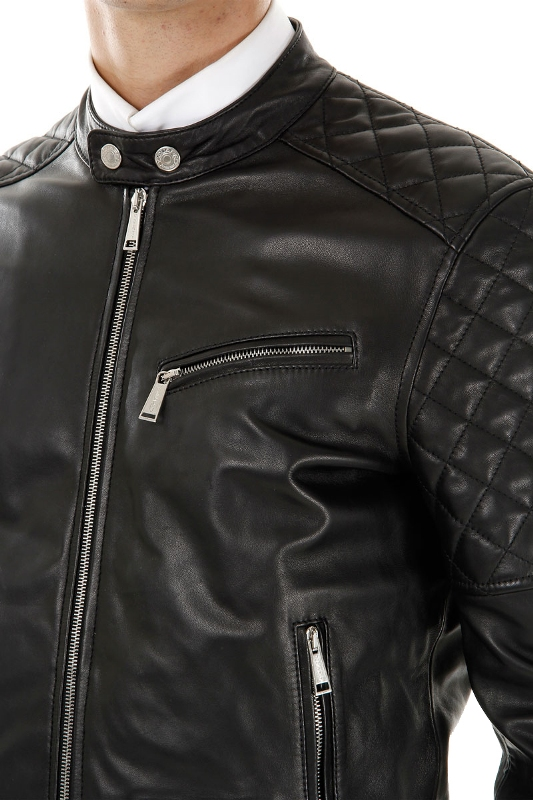 Quilted Leather Jacket Mens - Jacket
