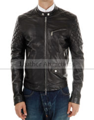Men-Motocycle-Quilted-Leather-Jackets-front