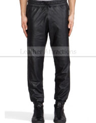 Men-Soft-Lambskin-Leather-Sweat-Track-Pants-front-1