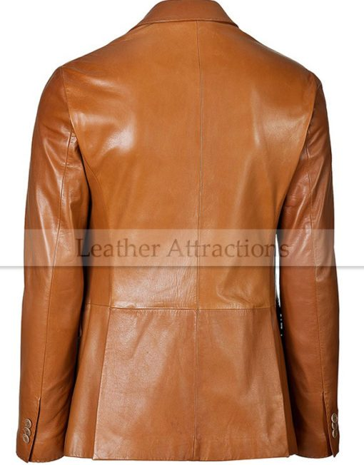 Mens stylish leather blazer