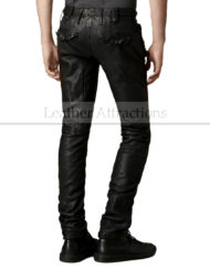 Mens-Designers-Moto-Style-Leather-Pants-back
